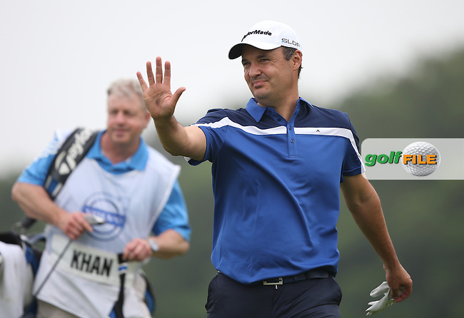 Simon Khan (ENG) will make a push on the leaders after a 69 during Round One of the 2014 Volvo China Open, Genzon Golf Club, Shenzhen, China. Picture:  David Lloyd / www.golffile.ie