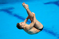Picture by Rogan Thomson/SWpix.com - 16/07/2017 - Diving - Fina World Championships 2017 -  Duna Arena, Budapest, Hungary - Ross Haslam of Great Britain in action in the Men's 1m Springboard Final.