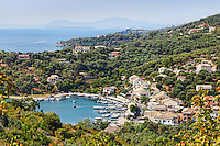 The port of Saint Stefanos Sinion in Corfu, Greece