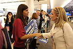 Debbie Dingell with GM workers at the 2009 North American International Auto Show in Detroit Michigan USA