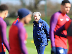 England's Roy Hodgson during training at the Tottenham Hotspur Training Centre.  Photo credit should read: David Klein/Sportimage