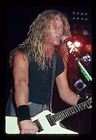 Metallica; 1986 First Concert With Jason Newsted; .Capitol Theater; New Jersey; 11-29-1986.Photo Credit: Eddie Malluk/Atlas Icons.com