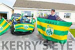 Joe Wallace at his home in Ardfert as he decks out his house in Green and Gold on Tuesday.