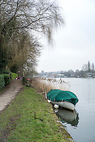 Henley. United Kingdom.  General View, looking towards the Henley Town, Henley Fours &amp; Eights Henley Head,, River Thames. H-O-T, England.<br /> <br /> Saturday  18/02/2017<br /> <br /> [Mandatory Credit. Peter SPURRIER/Intersport Images]
