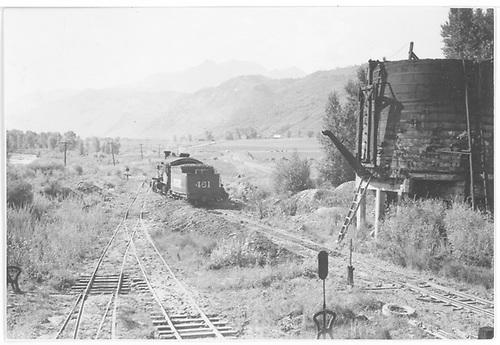 RGS #461 near Ridgway tank.<br /> RGS  Ridgway, CO  8/1950