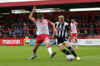 Kelland Watts of Stevenage and Harry Davis of Grimsby Town during Stevenage vs Grimsby Town, Sky Bet EFL League 2 Football at the Lamex Stadium on 12th October 2019