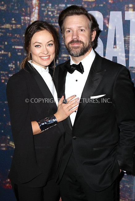 WWW.ACEPIXS.COM<br /> <br /> February 15 2015, New York City<br /> <br /> Olivia Wilde, Jason Sudeikis arriving at the SNL 40th Anniversary Special at the Rockefeller Plaza on February 15, 2015 in New York<br /> <br /> By Line: Nancy Rivera/ACE Pictures<br /> <br /> <br /> ACE Pictures, Inc.<br /> tel: 646 769 0430<br /> Email: info@acepixs.com<br /> www.acepixs.com