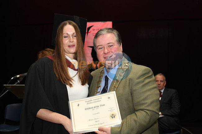 Alice Dunne who recieved the Student of the Year Award for Business Bilingual at the DIFE Graduation in The Barbican...Picture Jenny Matthews/Newsfile.ie
