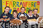 Pupils from Knockaderry National School pictured taking part in the Farranfore Bakers Project for the Junior Entrepreneur Programme on Friday, from left: Emer Riordan, Roan Gleeson, Emma Murphy, Rachel Brennan and Kayla Whooley..