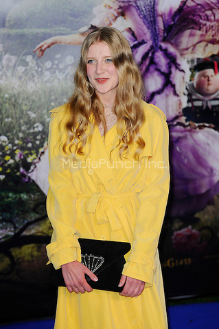 LONDON, ENGLAND - MAY 10: Poppy Lee Friar attending the 'Alice Through The Looking Glass' European Premiere at Odeon Cinema, Leicester Square in London. on May 10, 2016 in London, England.<br /> CAP/MAR<br /> &copy; Martin Harris/Capital Pictures /MediaPunch ***NORTH AND SOUTH AMERICA ONLY***