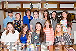 Marian Knightly from Rathorig ,Tralee celebrating her 15th birthday with family and friends on Friday night at La Scala's Pictured Front l-r Kayleigh Lonergan, Kerry O'Leary, Marian Knightly, Cassandra Knightly and Jade Sanderson. Back l-r Jack Mack, Aishling O'Carroll, Marian Knightly, Jack Hobbert, Geraldine Knightly, Maria Daly and Kate Lawlor.