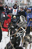 Ken Anderson in Anchorage on Saturday March 1st during the ceremonial start day of the 2008 Iidtarod Sled Dog Race.