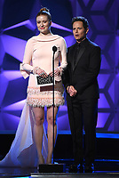 SANTA MONICA, CA - JANUARY 12: Kennedy McMann and Scott Wolf onstage at the 25th Annual Critics' Choice Awards at the Barker Hangar on January 12, 2020 in Santa Monica, California. (Photo by Frank Micelotta/PictureGroup)