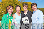 Sheila Kerley Castleisland, Eileen Sweeney Fossa, Jackie Murphy Milltown and Annette Courtney Faha who ran in the Lee Strand/An Riocht 10 Miler road race in Castleisland on Sunday morning ..