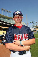 August 9 2008: Max Stassi participates in the Aflac All American baseball game for incoming high school seniors at Dodger Stadium in Los Angeles,CA.  Photo by Larry Goren/Four Seam Images