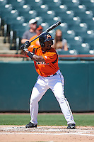 Bowie Baysox outfielder Quincy Latimore (22) at bat during a game against the Reading Fightin Phils on July 22, 2015 at Prince George's Stadium in Bowie, Maryland.  Bowie defeated Reading 6-4.  (Mike Janes/Four Seam Images)
