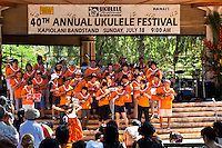 Performers at the 40th Annual Ukulele Festival at Kapiolani Park