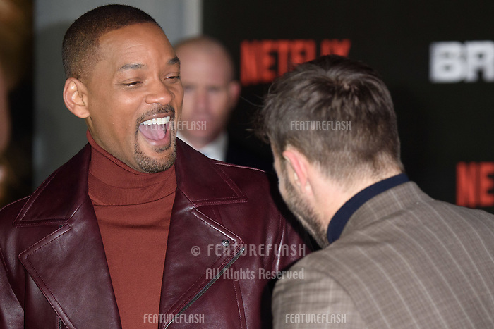 Will Smith &amp; Joel Edgerton at the European premiere for &quot;Bright&quot; European premiere at the BFI South Bank, London, UK. <br /> 15 December  2017<br /> Picture: Steve Vas/Featureflash/SilverHub 0208 004 5359 sales@silverhubmedia.com