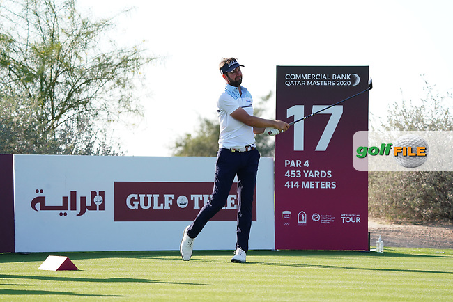Scott Jamieson (SCO) on the 17th during Round 1 of the Commercial Bank Qatar Masters 2020 at the Education City Golf Club, Doha, Qatar . 05/03/2020<br /> Picture: Golffile | Thos Caffrey<br /> <br /> <br /> All photo usage must carry mandatory copyright credit (© Golffile | Thos Caffrey)