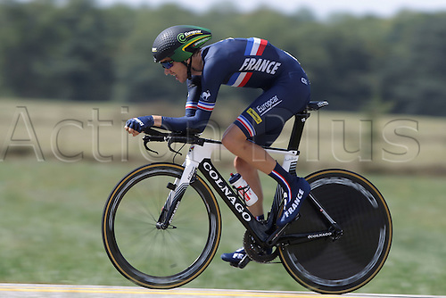 23.09.2015. Richmond, Virginia, USA. World Championship Cycling, Mens Elite time trials.  Romain Sicard of France