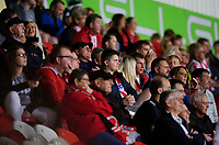 Lincoln City fans watch their team in action<br /> <br /> Photographer Chris Vaughan/CameraSport<br /> <br /> EFL Leasing.com Trophy - Northern Section - Group H - Doncaster Rovers v Lincoln City - Tuesday 3rd September 2019 - Keepmoat Stadium - Doncaster<br />  <br /> World Copyright © 2018 CameraSport. All rights reserved. 43 Linden Ave. Countesthorpe. Leicester. England. LE8 5PG - Tel: +44 (0) 116 277 4147 - admin@camerasport.com - www.camerasport.com