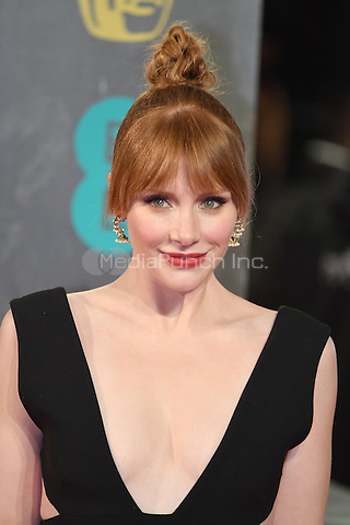 LONDON, ENGLAND - FEBRUARY 12: Bryce Dallas Howard attends the 70th EE British Academy Film Awards (BAFTA) at Royal Albert Hall on February 12, 2017 in London, England.<br /> CAP/BEL<br /> &copy;BEL/Capital Pictures /MediaPunch ***NORTH AND SOUTH AMERICAS ONLY***