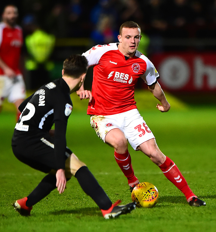 Fleetwood Town's James Wallace in action<br /> <br /> Photographer Richard Martin-Roberts/CameraSport<br /> <br /> The EFL Sky Bet League One - Fleetwood Town v Portsmouth - Saturday 29th December 2018 - Highbury Stadium - Fleetwood<br /> <br /> World Copyright © 2018 CameraSport. All rights reserved. 43 Linden Ave. Countesthorpe. Leicester. England. LE8 5PG - Tel: +44 (0) 116 277 4147 - admin@camerasport.com - www.camerasport.com