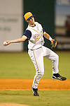 Montgomery Biscuits Shortstop Reid Brignac makes an off balance throw to first base versus the Chattanooga Lookouts at Riverwalk Stadium in Montgomery, AL, Friday, August 18, 2006.