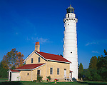 Door County, WI<br /> Cana Island lighthouse on Lake Michigan