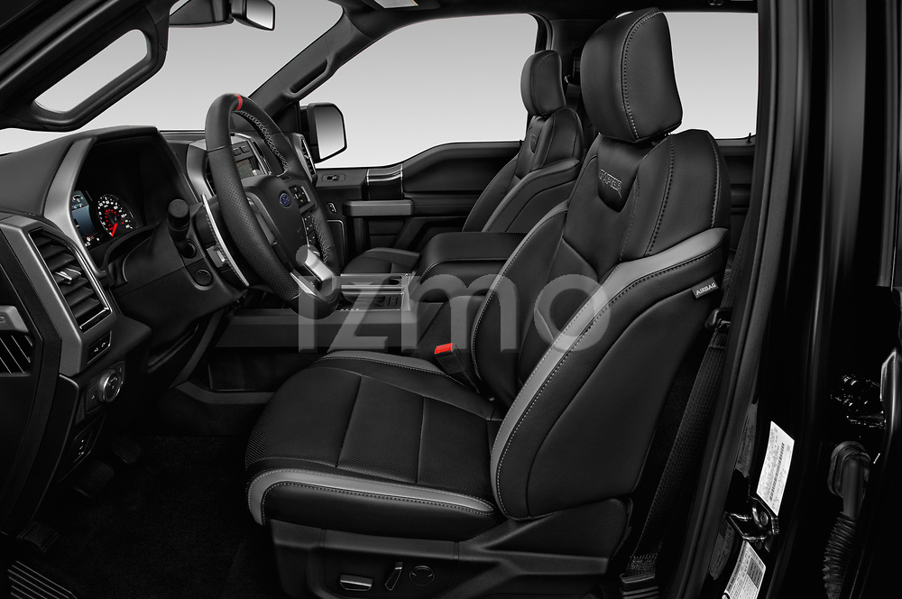 Front seat view of a 2018 Ford F-150 Raptor 4 Door Pick Up front seat car photos