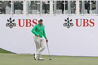 Paul Dunne (IRL) on the 18th green during Round 3 of the UBS Hong Kong Open, at Hong Kong golf club, Fanling, Hong Kong. 25/11/2017<br /> Picture: Golffile | Thos Caffrey<br /> <br /> <br /> All photo usage must carry mandatory copyright credit     (&copy; Golffile | Thos Caffrey)