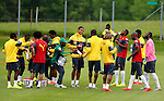 Cameroon's players attend a training session in Walchsee, Austria on May 28, 2014 ahead of a friendly football match against Germany, on June 1, 2014 in preparation for the FIFA World Cup 2014. <br /> &copy; Pierre Teyssot
