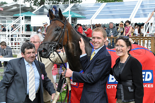 25.08.2012. York Racecourse, York, England.  Gordon Lord Byron After Winning The City of York Stakes York Racecourse