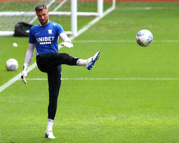 Preston North End's Declan Rudd during the pre-match warm-up <br /> <br /> Photographer David Shipman/CameraSport<br /> <br /> The EFL Sky Bet Championship - Nottingham Forest v Preston North End - Saturday 31st August 2019 - The City Ground - Nottingham<br /> <br /> World Copyright © 2019 CameraSport. All rights reserved. 43 Linden Ave. Countesthorpe. Leicester. England. LE8 5PG - Tel: +44 (0) 116 277 4147 - admin@camerasport.com - www.camerasport.com