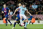 Jozabed Sanchez Ruiz (R) of RC Celta de Vigo fights for the ball with Javier Alejandro Mascherano of FC Barcelona during the Copa Del Rey 2017-18 Round of 16 (2nd leg) match between FC Barcelona and RC Celta de Vigo at Camp Nou on 11 January 2018 in Barcelona, Spain. Photo by Vicens Gimenez / Power Sport Images