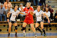 v.l.n.r. Sabrina Neuendorf (VFL), Stefanie Egger (TSV), Angie Geschke (VFL)