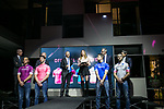 On the last day of the Milan Fashion Week, the Giro d'Italia presented the 2018 jerseys and the new Madrina, Alice Rachele Arlanch, Miss Italia 2017. Milan, Italy. 15th January 2018.<br /> Picture: LaPresse/Stefano De Grandis   Cyclefile<br /> <br /> <br /> All photos usage must carry mandatory copyright credit (&copy; Cyclefile   LaPresse/Stefano De Grandis)