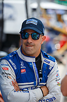 May 26, 2017; Indianapolis, IN, USA; IndyCar Series driver Tony Kanaan during Carb Day for the 101st Running of the Indianapolis 500 at Indianapolis Motor Speedway. Mandatory Credit: Mark J. Rebilas-USA TODAY Sports