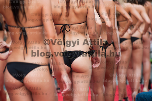 Preliminary contest for the most prestigious beauty pageants Miss World Hungary, Miss Universe Hungary and Miss Earth Hungary held in Hotel Abacus, Herceghalom, Hungary on July 07, 2011. ATTILA VOLGYI