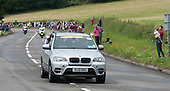 One of the many vehicles which preceeded the racers.  Olympics 2012.  Women's cycle road race passes along the Shere bypass, the A25, on it's way to Box Hill and then back to the finish in London.