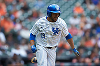 Alex Rodriguez (19) of the Kentucky Wildcats hustles down the first base line against the Sam Houston State Bearkats during game four of the 2018 Shriners Hospitals for Children College Classic at Minute Maid Park on March 3, 2018 in Houston, Texas. The Wildcats defeated the Bearkats 7-2.  (Brian Westerholt/Four Seam Images)