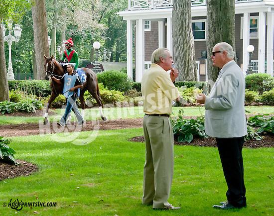 Brujo de Olleros before The Carl Hanford Memorial Stakes at Delaware Park on 8/19/13
