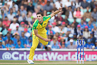 Pat Cummins (Australia) in action during India vs Australia, ICC World Cup Cricket at The Oval on 9th June 2019