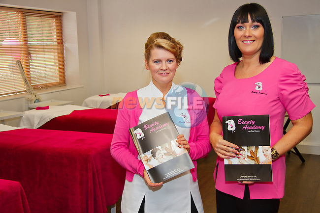 Angela Quinn and Berenice Sullivan at the Beauty Academy open day..Picture: Shane Maguire / www.newsfile.ie.