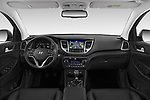 Stock photo of straight dashboard view of a 2018 Hyundai Tucson Executive 5 Door SUV