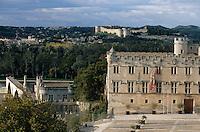 Europe/France/Provence-Alpes-Côte- d'Azur/84/Vaucluse/Avignon: le Petit Palais, la cathedrale N-D-des-Doms en fond Villeneuve les Avignon - Façade de style Renaissance