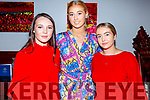 Models Eve Creedon, Ellie McElligott and Millie Luck ready to take to the catwalk in aid of Ballymac GAA in the Rose Hotel on Sunday.