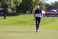 Jimmy Walker (Team USA) on the 16th during Sunday Singles matches at the Ryder Cup, Hazeltine National Golf Club, Chaska, Minnesota, USA.  02/10/2016<br /> Picture: Golffile | Fran Caffrey<br /> <br /> <br /> All photo usage must carry mandatory copyright credit (&copy; Golffile | Fran Caffrey)