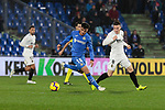 Getafe CF's Mauro Arambarri and Valencia CF's Kevin Gameiro during La Liga match between Getafe CF and Valencia CF at Coliseum Alfonso Perez in Getafe, Spain. November 10, 2018.