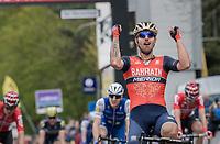 Sonny Colbrelli (ITA/Bahrain-Merida) wins the 57th Brabantse Pijl - La Fl&egrave;che Braban&ccedil;onne (1.HC)<br /> <br /> 1 Day Race: Leuven &rsaquo; Overijse (197km)